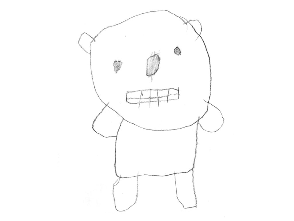 Bear - childhood drawing